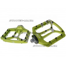 n8tive flat pedal NOAX V.1 cold forged - green