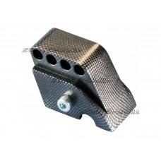 riser kit Polini CNC 4-hole Carbon Look for Piaggio