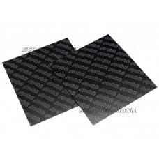 carbon fiber reed sheets Polini 0,33mm 110x100mm - universal (light blue)