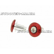 handlebar / bar end weights anti-vibration Mini CNC milled - red