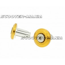 handlebar / bar end weights anti-vibration Mini CNC milled gold