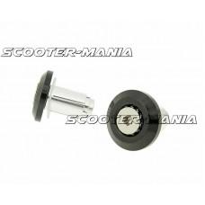 handlebar / bar end weights anti-vibration Mini CNC - milled black