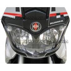 head lamp frown trim Opticparts DF black for Gilera Runner (08/05-)