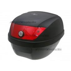 Top Case black - lock with 2 keys, red lens - 28L capacity