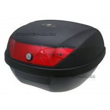 Top Case maxi trunk black - lock with 2 keys, red lens - 51L capacity