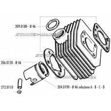 gudgeon pin clip Polini 13mm for MBK AV-10, AV-51, 92GT, M16