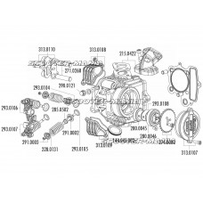 camshaft gear Polini 28T for 4V cylinder head for Honda XR 50, Polini XP4T