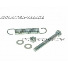 main / center stand bolt and spring 85mm for Tomos A3, A35