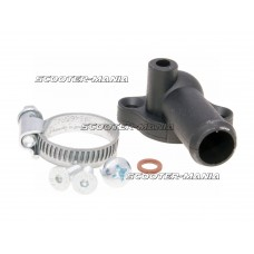 cooling hose adapter cylinder head Polini angled for Piaggio LC, Peugeot vertical LC