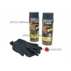 strippable lacquer Dupli-Color Sprayplast set carbon glossy 2x400ml