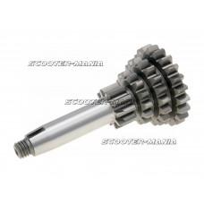 auxiliary shaft / countershaft 4-speed 22-18-14-10 teeth for Vespa 50-90, Primavera, ET3, PK, PK XL