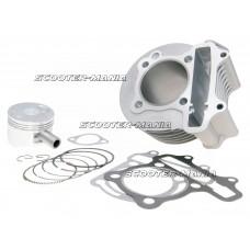 cylinder kit 150cc 57.4mm for China 4-stroke GY6 125 152QMI, 150 157QMJ