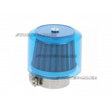 air filter Air-System metal gauze filter 38mm straight version blue shield