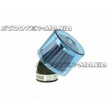air filter Air-System metal gauze filter 35mm 45? carburetor connection blue shield