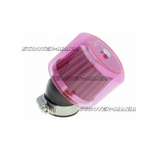 air filter Air-System metal gauze filter 35mm 45? carburetor connection red shield