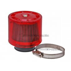 air filter Air-System metal gauze filter 38mm straight version red shield