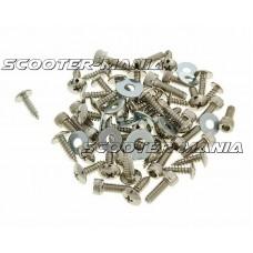 fairing screw set chrome for Yamaha Aerox, MBK Nitro