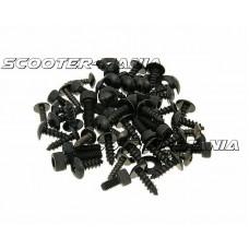 fairing screw set black for Yamaha Aerox, MBK Nitro