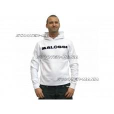 hoodie Malossi white - size L