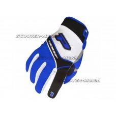 gloves ProGrip MX 4010 white-blue size S