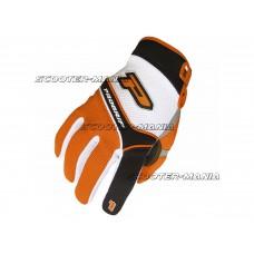 gloves ProGrip MX 4010 white-orange size S
