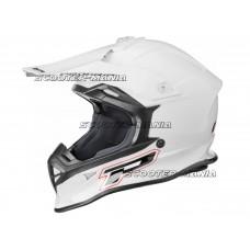 MX helmet ProGrip 3190 white size M (57-58)