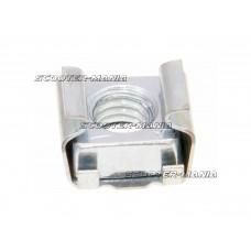 cage nut OEM 6mm for brake pedal, regulator / rectifier for Vespa, Piaggio, Ape