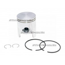 piston kit (C) OEM for Piaggio / Derbi engine D50B0 (cast iron cylinder)
