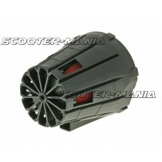 air filter boxed racing 28-35mm (incl. adapter) straight version red filter, black housing