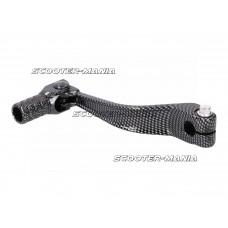 gear shift lever aluminum carbon-look for Piaggio / Derbi engine D50B0, EBE Off-Road , SM