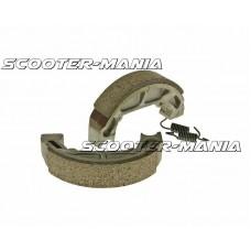 brake shoe set 100x20mm for drum brake for Piaggio Quartz, Zip Base 50, Sfera 50, 80