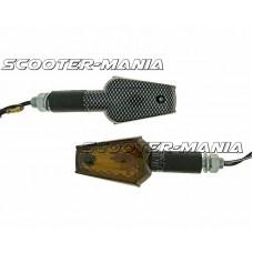 indicator light set M10 thread carbon look Beamer smoked, long version