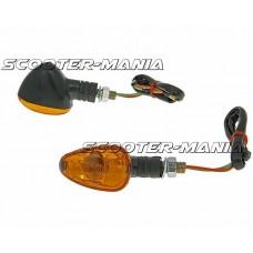 indicator light set M10 thread black Doozy orange, short version
