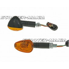 indicator light set M10 thread black Doozy orange, long version