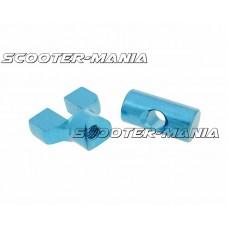 brake cable adjuster set M6 thread aluminum blue - universal