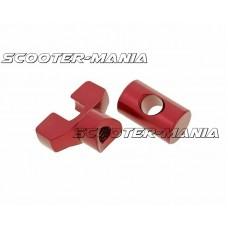 brake cable adjuster set M6 thread aluminum red - universal