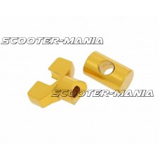 brake cable adjuster set M6 thread aluminum gold - universal
