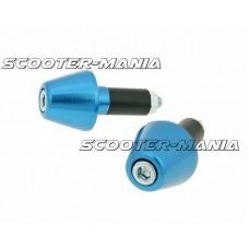 handlebar vibration dampers / bar ends short 13.5mm - blue