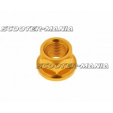 front wheel lock / axle nut aluminum gold anodized M12x1.75