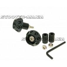 handlebar / bar ends anti-vibration flat 13.5 / 17.5mm (incl. adapter) - carbon look