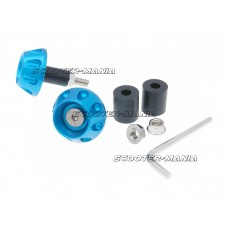 handlebar / bar ends anti-vibration flat 13.5 / 17.5mm (incl. adapter) - blue