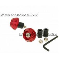 handlebar / bar ends anti-vibration flat 13.5 / 17.5mm (incl. adapter) - red