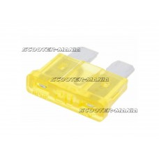 blade fuse flat 19.2mm 20A yellow in color