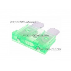 blade fuse flat 19.2mm 30A green in color