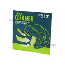 helmet cleaner Zeibe impregnated cellulose wipe